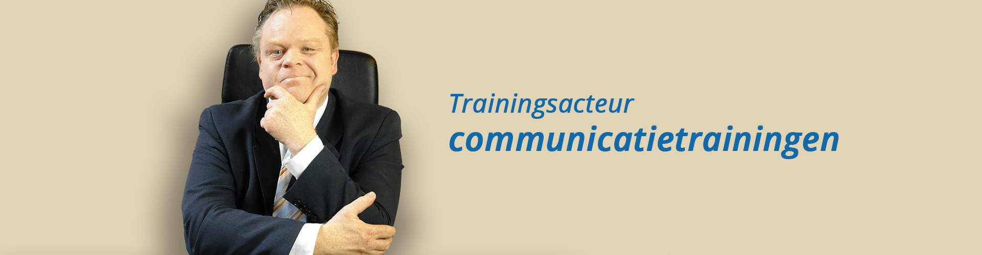 Trainingsacteur communicatietrainingen